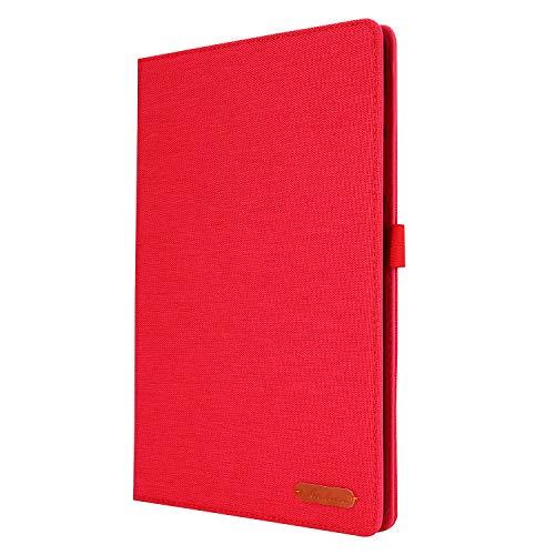 Lobwerk Funda para tablet Samsung Galaxy Tab S6 Lite SM-P610 P615 de 10,4 pulgadas, funda fina con función atril y función de encendido y apagado automático, color rojo