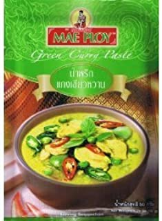 Mae Ploy Green Curry Paste, Pastes 50g. Thai Food (pack 2)