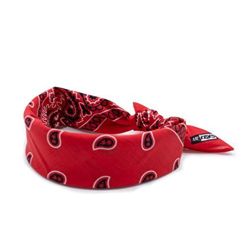 MRKROKS Premium Bandana | 100% Baumwolle | Bandana Handgelenk | Bindetuch | Kopftuch | stylische Designs | Bandana schwarz (lifestyle-rot)