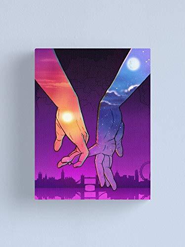Afabel DIY-Dibujos Animados de Dos Manos Kit de Pintura por Números Lienzo con Marco Lienzo Digital Pintura al óleo Regalo para niños, Estudiantes, Adultos Principiantes- sin Marco 40x50cm