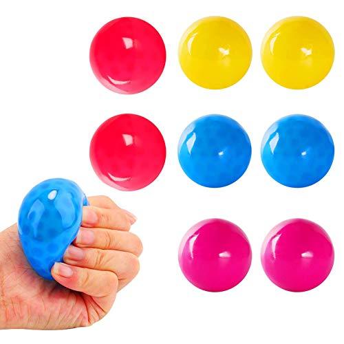 Fluoreszierende Klebrige Wand Ball, 5 Farbe Klebriger Zielball, Anti Stress Reliever Balls Kann An Die Decke Geklebt Werden, Stressabbau Wandkugeln Dekompressions Für Erwachsene Kinder