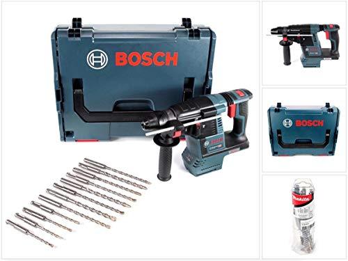 Preisvergleich Produktbild Bosch GBH 18 V-26 Akku Bohrhammer Professional SDS-Plus Solo + 12 tlg. Bohrerset SDS-Plus + L-Boxx - ohne Akku,  ohne Ladegerät