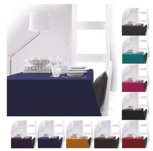 TODAY 256201Polyester Tablecloth 140x 200cm, polyester, Ciel d'orage/Bleu Marine, 140x200 cm