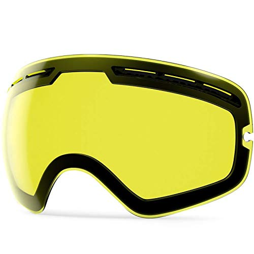 ZIONOR X Ski Snowboard Snow Goggles OTG Design for Men Women Adult with Spherical Detachable Lens UV Protection Anti-Fog (VLT 89% Low Light Lens)