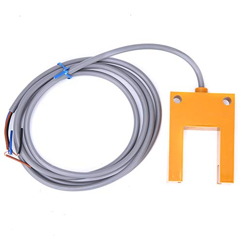 Weikeya Interruptor de sensor fotoeléctrico, plástico, 200 mA, NPN, normalmente abierto, haz fotoeléctrico montado