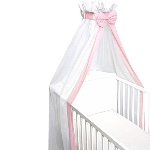 Babybett Schleier/Betthimmel (Mit Schleife) Für Babybetten 60 x 120 cm / 70 x 140 cm (ROSA)