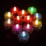 Brillante 12pcs / Set Impermeable con Pilas del té del LED Luces de Fiesta de Boda Creativo decoración de la Tabla de la decoración LED de luz de Velas sin Llama A Salvo (Color : Color Changing)