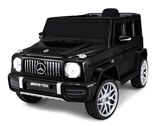 Kid Trax Electric Kids Luxury Mercedes Benz AMG G63 Car Ride-On Toy, 6 Volt Battery, Remote Control, Ages 3-5 Years, Black