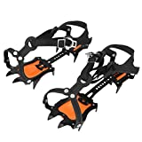 VGEBY Traction Ice Cleats, Anti-Slip 10 Toothed Snow Crampons Ice Gripper Footwear for...