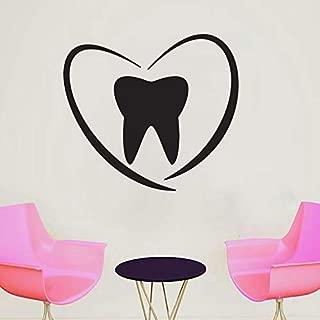 Dental Clinic Wall Decals Decor - Dentist Tooth Teeth Quotes Art Stickers Decorations - Vinyl Pictures for Office Studio Shop Home Kids Room Bedroom Door Window DC048