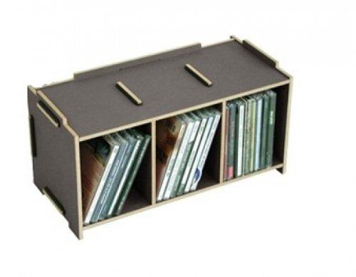 Werkhaus - Supporto per CD, in Legno, Grigio, M