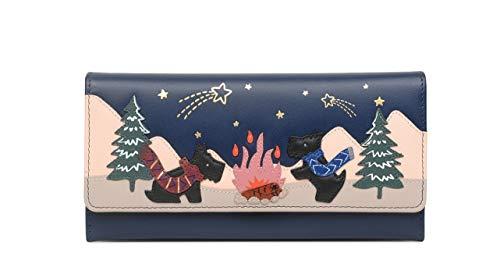 Radley Stargazing marineblauw lederen foto matinee portemonnee