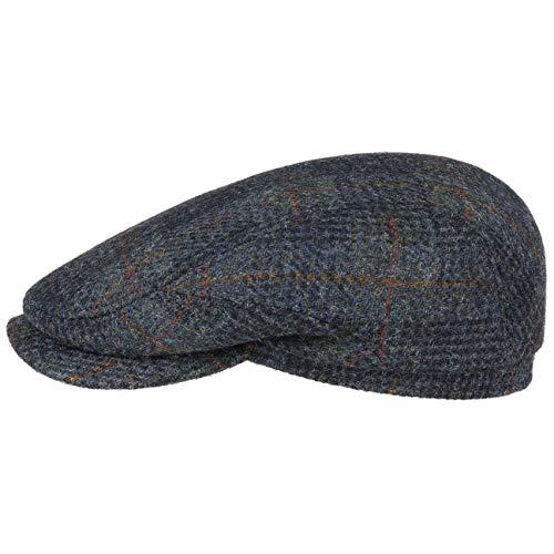 Stetson Harris Tweed Check Flatcap Schirmmütze Schiebermütze Wintercap Herrencap Herren - Made in...