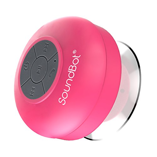 SoundBot SB510S Water Resistant Bluetooth with FM Radio Speaker (Pink)