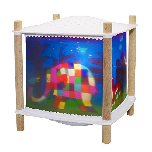 Trousselier - Elmer der Elefant - Nachtlicht - Magische Laterne ReVOLUTION 2.0 - Geburtsgeschenk - Sternenprojektor - Musik & Geschichten für Kinder im Streaming - Schrei detektor - Akku