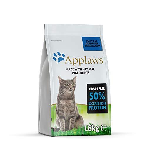 Applaws Katze Trockenfutter Seefisch mit Lachs, 1er Pack (1 x 1,8 kg)