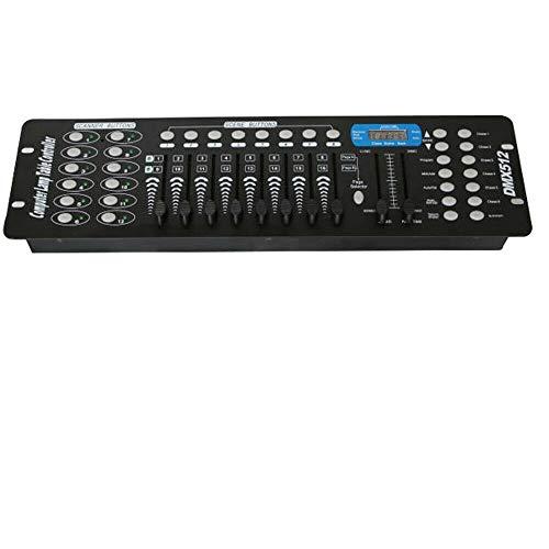 192 Kanäle DMX 512 Steuerpult, Lichtsteuerung,DMX Controller,Drahtlos DMX Konsole,DJ Betreiber Equippment für Bühnen Lampe,Moving Head,DJ,Club,Party