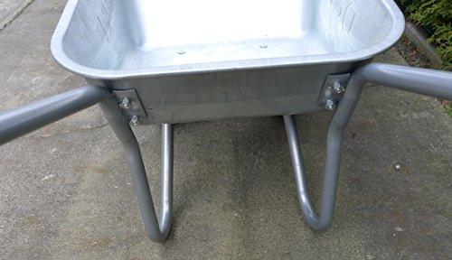 Schubkarre mit 2 Rädern, 100L, Stahl, robust, Beschichtet, Luftreifen mit Stahlfelge - 3