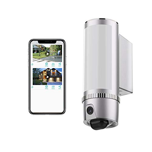 FREECAM Floodlight Camera with Motion Lighting,HD 1080P Outdoor Security WiFi Camera with Night Vision,Two-Way Talk and Siren Alarm, Built-in 16GB SD Card and Support Cloud Storage L910SL