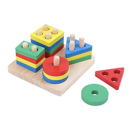 Balacoo Vogel Puzzle Training Spielzeug Holz Vogelspielzeug Papageienspielzeug Intelligenz Geometrie Spielzeug für Hamster Papagei Lernspielzeug