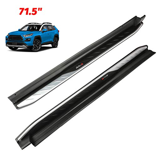 ECCPP Running Boards Fit for Toyota RAV4 2019-2020 Aluminum Alloy + ABS Plastic Cement Side Steps Nerf Bars 2 Pieces