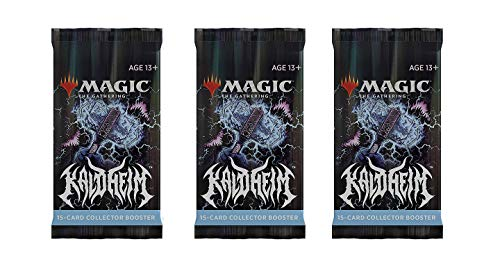 3 Packs Magic: The Gathering Collector Booster Pack Lot MTG Kaldheim
