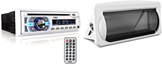 $82 » Boat Bluetooth Marine Stereo Receiver - Marine Head Unit Din Single Stereo Speaker Receiver - Pyle PLCD43MRB & Water Resis...