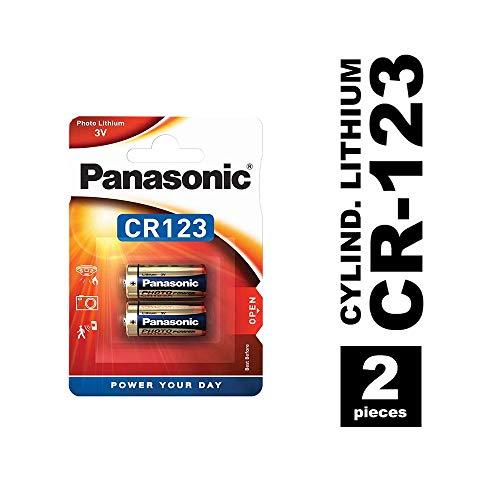 Panasonic CR123 Lithium-Batterie , 3V, 2er Pack