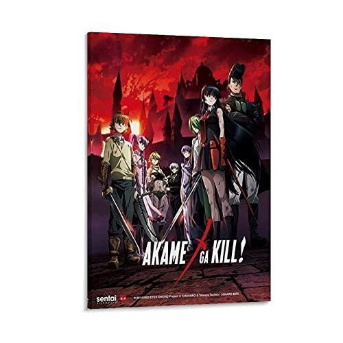 MMJH Anime Akame Ga Kill - Poster artistico da parete, stampa artistica da parete moderna della famiglia, 12 x 18 pollici (30 x 45 cm)