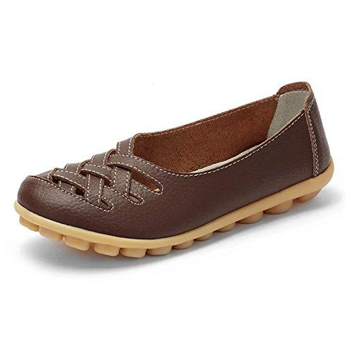 Karenemp Zapatos Para Mujer, De Corte Casual De Piel Hombre Soporte De Zapatos Tipo Mocasín...