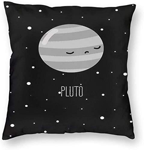Lovely Pluto Pillowslip Funda de almohada de tiro única Fundas de cojines creativos Fundas con cremallera Funda de almohada con estampado decorativo para el hogar para sofá Sofá, (16 'x16' / 40x40cm)