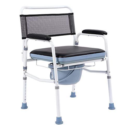 AYNEFY - Silla de baño para el cuidado de la silla de noche con marco de WC y asiento de inodoro ligero y portátil con cómoda cómoda