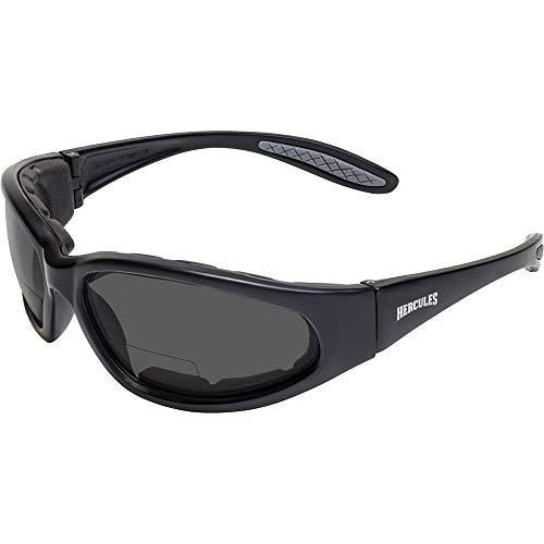 Global Vision Eyewear Hercules Bifocal Anti-Fog Safety Glasses with EVA Foam, Smoke Lens