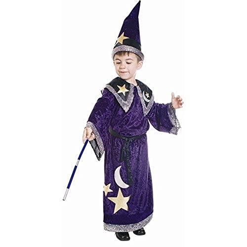 Dress Up America Déguisement de magicien pour enfant, 548-M, Comme la présentation, 8-10 ans (taille: 76-82, hauteur: 114-127 cm)