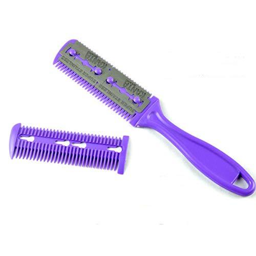 ULN 1 pièce Peigne Brosse à Cheveux clairsemée Outil de Coupe de Cheveux, Violet