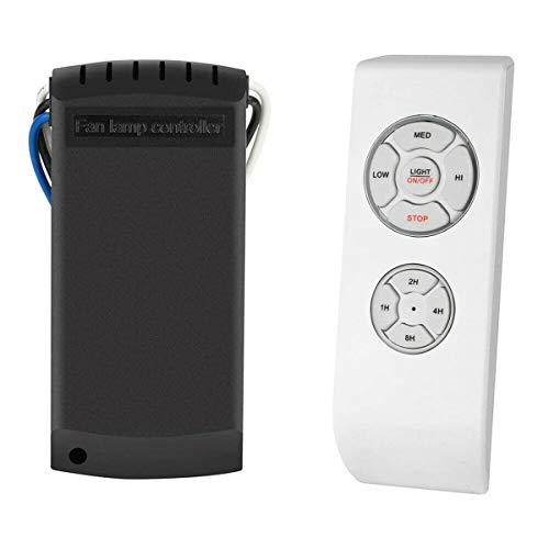 Ventilador de Techo Universal Kit de Control Remoto Inalámbrico Temporizador Remoto Receptor de Control Remoto Lámpara de Repuesto para Luz de Ventilador de Techo