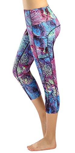 Sugar Pocket Womens Outdoor Fitness Tights Capri Running Yoga Pants S