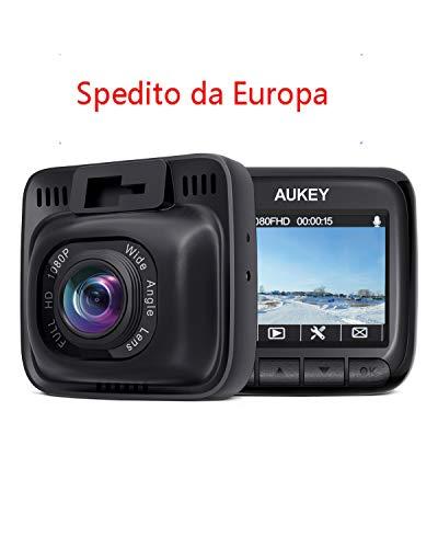 AUKEY Dash Cam FHD 1080P Telecamera per Auto Obiettivo...