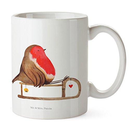 Mr. & Mrs. Panda Tee, Teetasse, Tasse Rotkehlchen Schlitten - Farbe Weiß