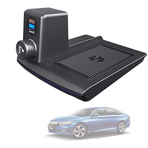 Cargador De Automóvil Inalámbrico, Cargadores De Inducción De Teléfonos Celulares con Puerto USB QC3.0 para Honda Accord 2018 2019 2020 Panel De Accesorios De Consola Central, 15W Qi Qi Cargo QUÍ CA