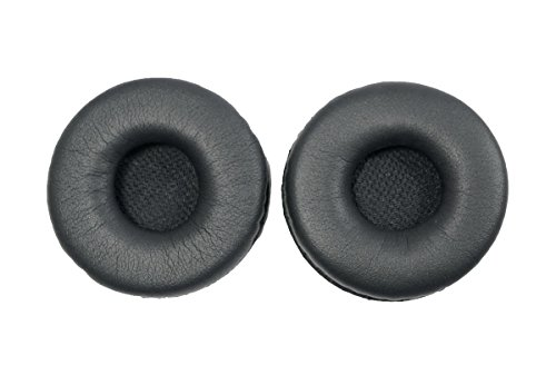 Reparaturteile Ohrpolster für Jabra GN2100 GN9120 GN 2100 2110 2124 2125 9300 9330 9350 Kopfhörer Ohrpolster, 48mm, Leder