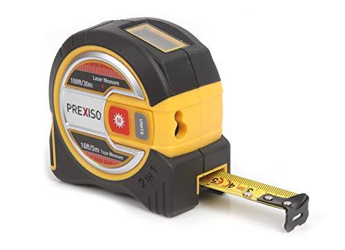 Prexiso 2-in-1 Laser Tape, 98 ft. w/Laser, 16 ft. w/Tape, 98ft./16ft, (1 Pack) (PLT30C)