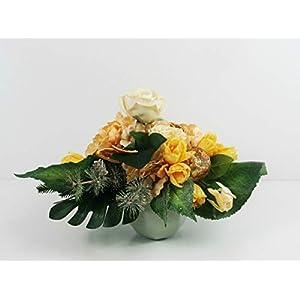 Weihnachtsgesteck Tulpen Künstlich Advent Weihnachten Tulpen Engel Kiefer Glas Adventzeit künstlich Hortensien…