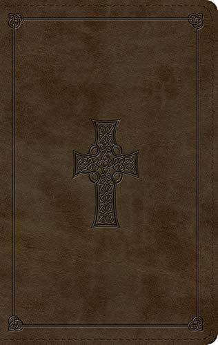 ESV Large Print Personal Size Bible (TruTone, Olive, Celtic Cross Design)