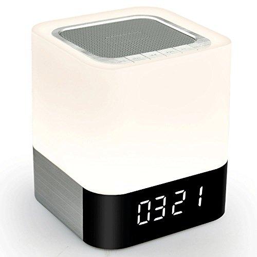 Veilleuse ZQ sans Fil Mobile Téléphone Bluetooth Haut-Parleur Intelligent Musique Bureau Lampe Tactile Nuit Lumière Portable Multifonctionnel