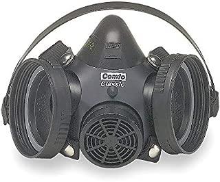 MSA 808075 Comfo Classic Half Facepiece Hycar Respirator, Capacity, Volume, Hycar, Silicone, Small, Black