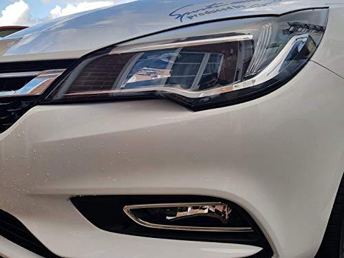 Cubiertas para el marco de acero inoxidable cromado para faros antiniebla del modelo Opel ASTRA K fabricados a partir de 2015, (2 piezas)