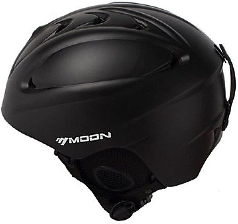 MOON Unsiex Matte Black Fall Winter ABS Ski Snowboard Helmet