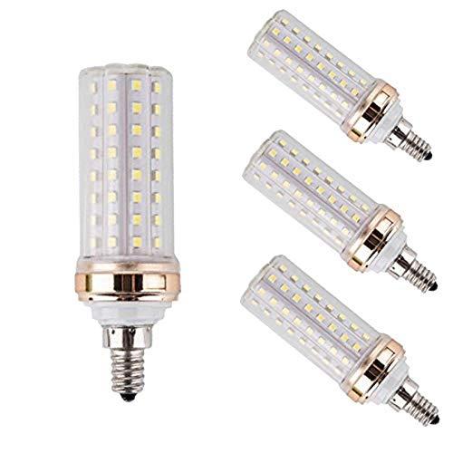 EBD Lighting E12 LED Light Bulbs,20W Candelabra LED Bulbs 180 Watt Equivalent - 88 LEDs 2835 SMD 1800lm 6000K Daylight White Decorative Candle Base E12 LED Chandelier Bulbs,AC85-265V, 4 pack,