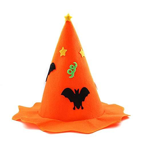 Jessicadaphne Sombrero de Bruja de Calabaza de Halloween para niños y Adultos, Sombreros de Fiesta no Tejidos, Gorras, Accesorios de actuación para Cosplay, Suministros para Fiestas de Hallowmas